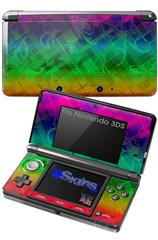 Rainbow Butterflies - Decal Style Skin fits Nintendo 3DS (3DS SOLD SEPARATELY)