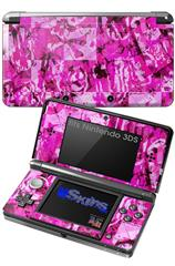 Pink Plaid Graffiti - Decal Style Skin fits Nintendo 3DS (3DS SOLD SEPARATELY)