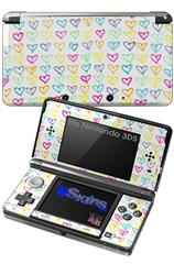Kearas Hearts White - Decal Style Skin fits Nintendo 3DS (3DS SOLD SEPARATELY)