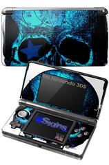 Blueskull - Decal Style Skin fits Nintendo 3DS (3DS SOLD SEPARATELY)