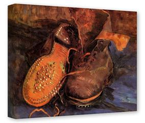 Gallery Wrapped 11x14x1.5  Canvas Art - Vincent Van Gogh A Pair of Shoes