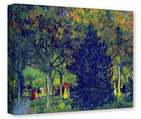 Gallery Wrapped 11x14x1.5  Canvas Art - Vincent Van Gogh Allee in the Park