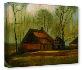 Gallery Wrapped 11x14x1.5  Canvas Art - Vincent Van Gogh Among Trees