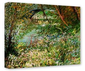 Gallery Wrapped 11x14x1.5  Canvas Art - Vincent Van Gogh Banks Of The Seine With Pont De Clichy In The Spring