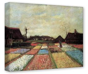 Gallery Wrapped 11x14x1.5  Canvas Art - Vincent Van Gogh Bulb Fields