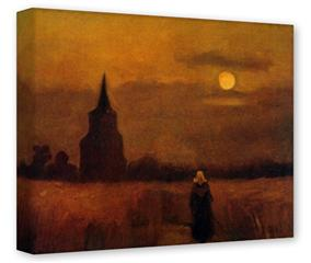 Gallery Wrapped 11x14x1.5 Canvas Art - Vincent Van Gogh Fields