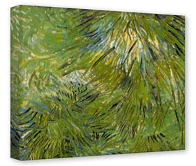 Gallery Wrapped 11x14x1.5  Canvas Art - Vincent Van Gogh Grass