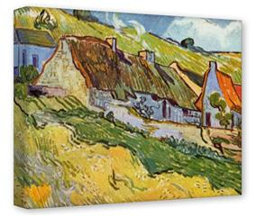 Gallery Wrapped 11x14x1.5  Canvas Art - Vincent Van Gogh Huts In Auvers
