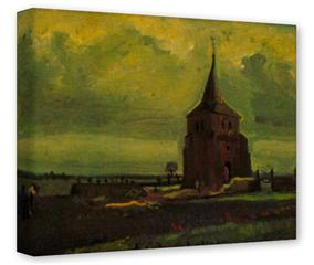 Gallery Wrapped 11x14x1.5  Canvas Art - Vincent Van Gogh Old Tower