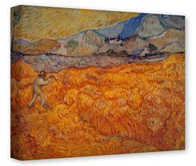 Gallery Wrapped 11x14x1.5  Canvas Art - Vincent Van Gogh Reaper