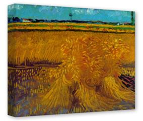 Gallery Wrapped 11x14x1.5  Canvas Art - Vincent Van Gogh Sheaves