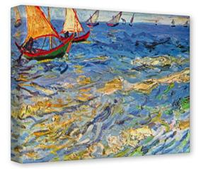 Gallery Wrapped 11x14x1.5  Canvas Art - Vincent Van Gogh The Sea At Saintes-Maries