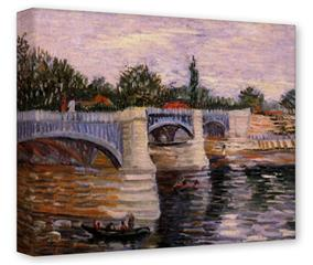 Gallery Wrapped 11x14x1.5  Canvas Art - Vincent Van Gogh The Seine With The Pont De La Grande Jette
