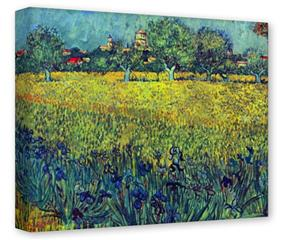 Gallery Wrapped 11x14x1.5  Canvas Art - Vincent Van Gogh View Of Arles With Irises