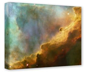 Gallery Wrapped 11x14x1.5 Canvas Art - Hubble Images - Gases in the Omega-Swan Nebula