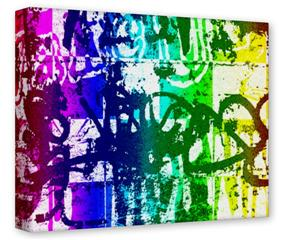 Gallery Wrapped 11x14x1.5  Canvas Art - Rainbow Graffiti