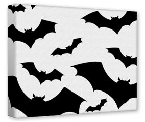 Gallery Wrapped 11x14x1.5  Canvas Art - Deathrock Bats