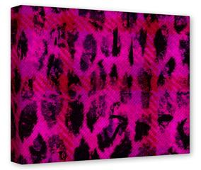 Gallery Wrapped 11x14x1.5  Canvas Art - Pink Distressed Leopard