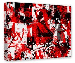 Gallery Wrapped 11x14x1.5  Canvas Art - Red Graffiti
