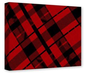 Gallery Wrapped 11x14x1.5  Canvas Art - Red Plaid