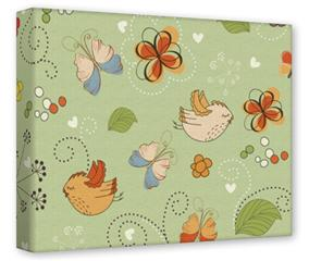 Gallery Wrapped 11x14x1.5  Canvas Art - Birds Butterflies and Flowers