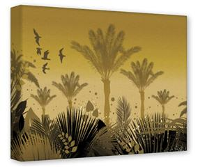 Gallery Wrapped 11x14x1.5  Canvas Art - Summer Palm Trees