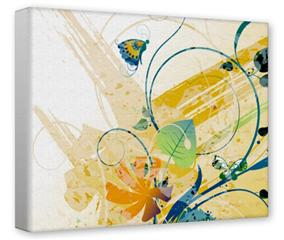 Gallery Wrapped 11x14x1.5  Canvas Art - Water Butterflies