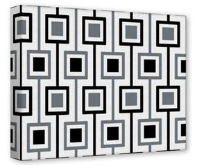 Gallery Wrapped 11x14x1.5  Canvas Art - Squares In Squares