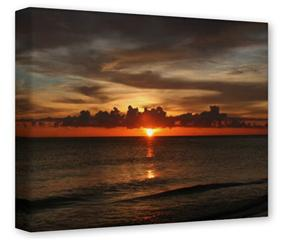 Gallery Wrapped 11x14x1.5  Canvas Art - Set Fire To The Sky