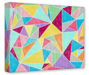 Gallery Wrapped 11x14x1.5  Canvas Art - Brushed Geometric