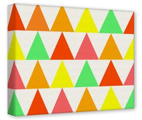 Gallery Wrapped 11x14x1.5  Canvas Art - Triangles Citrus