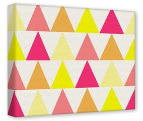 Gallery Wrapped 11x14x1.5  Canvas Art - Triangles Warm