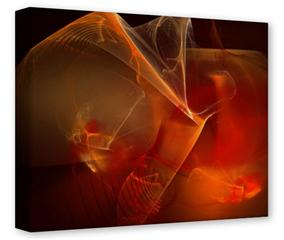 Gallery Wrapped 11x14x1.5  Canvas Art - Flaming Veil