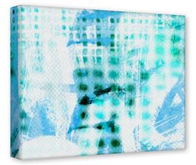 Gallery Wrapped 11x14x1.5  Canvas Art - Electro Graffiti Blue