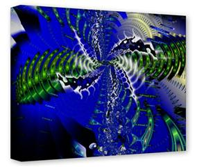 Gallery Wrapped 11x14x1.5  Canvas Art - Hyperspace Entry