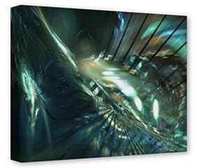 Gallery Wrapped 11x14x1.5  Canvas Art - Hyperspace 06