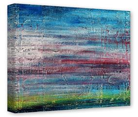 Gallery Wrapped 11x14x1.5  Canvas Art - Landscape Abstract RedSky