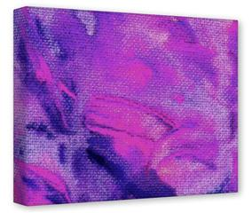 Gallery Wrapped 11x14x1.5  Canvas Art - Painting Purple Splash