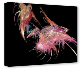 Gallery Wrapped 11x14x1.5  Canvas Art - Pink Flamingos