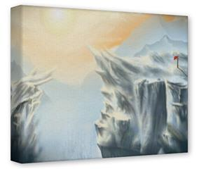Gallery Wrapped 11x14x1.5 Canvas Art - Ice Land