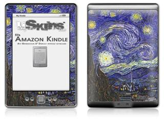 Vincent Van Gogh Starry Night - Decal Style Skin (fits 4th Gen Kindle with 6inch display and no keyboard)