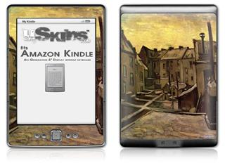 Vincent Van Gogh Backyards Of Old Houses In Antwerp In The Snow - Decal Style Skin (fits 4th Gen Kindle with 6inch display and no keyboard)