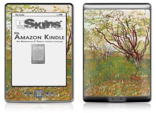Vincent Van Gogh Cherry Tree - Decal Style Skin (fits 4th Gen Kindle with 6inch display and no keyboard)