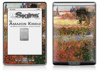 Vincent Van Gogh Flowering Garden - Decal Style Skin (fits 4th Gen Kindle with 6inch display and no keyboard)