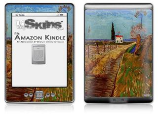 Vincent Van Gogh Path Through A Field With Willows - Decal Style Skin (fits 4th Gen Kindle with 6inch display and no keyboard)