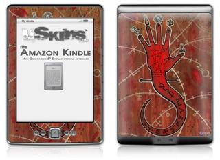 Red Right Hand - Decal Style Skin (fits 4th Gen Kindle with 6inch display and no keyboard)