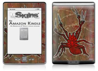Weaving Spiders - Decal Style Skin (fits 4th Gen Kindle with 6inch display and no keyboard)