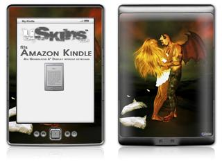 Kathy Gold - Fallen Angel 2 - Decal Style Skin (fits 4th Gen Kindle with 6inch display and no keyboard)