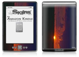 South GA Sunset - Decal Style Skin (fits 4th Gen Kindle with 6inch display and no keyboard)