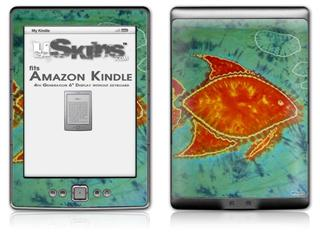 Tie Dye Fish 100 - Decal Style Skin (fits 4th Gen Kindle with 6inch display and no keyboard)